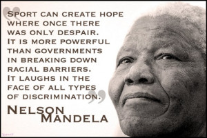Nelson Mandela: 'Sport has the power to change the world'