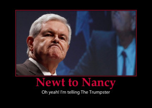 Pelosis has DIRT on Newt
