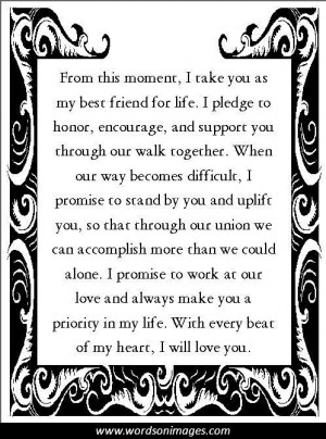 Love quotes vows