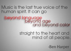 Ben Harper Music quote