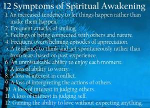 12 Symptoms Spiritual Awakening