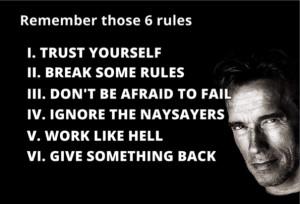 ... | Az élet 6 szabálya - Arnold Schwarzenegger motivációs beszéde