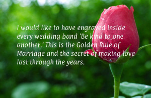 would like to have engraved inside every wedding band 'Be kind to ...