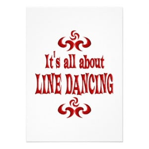 ALL ABOUT LINE DANCING PERSONALIZED ANNOUNCEMENTS from Zazzle.com
