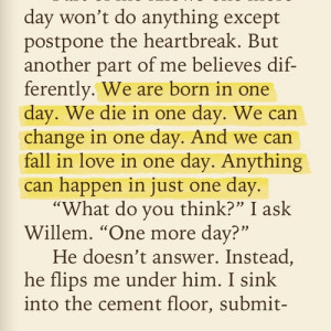 ... Just One Day Gayle Forman, Change, Favorite Book Quotes, True, Oneday