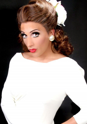 Bianca Del Rio looking uncharacteristically innocent