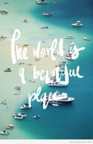 World beautiful place hd quotes
