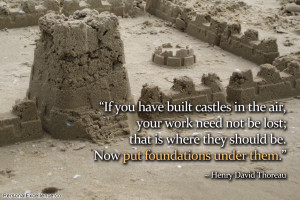 If you have built castles in the air, your work need not be lost; that ...