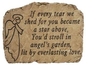 Stone Memorial - Angel's Garden