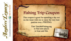 Be part of the upward trend: give the gift of time and fishing.
