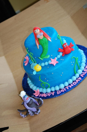 little mermaid birthday cakes