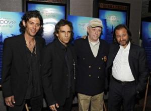 Ben Stiller, actor Richard O'Barry and producer Fisher Stevens ...