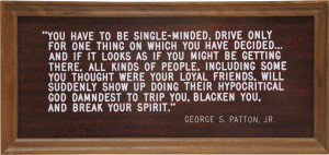 Coach Knights George Patton Quote Framed
