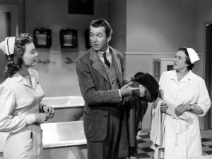 Peggy Dow, James Stewart and Minerva Urecal in