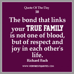 Not Blood Family Quotes And Sayings