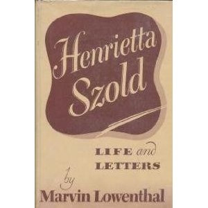 Henrietta Szold : Life and Letters (Hardcover) http://www.amazon.com ...