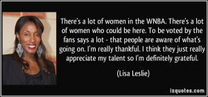 More Lisa Leslie Quotes
