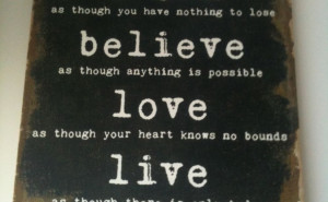 Quote Canvas Wall Dream Believe Love Live In Bentleigh East, VIC ...