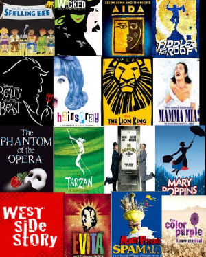 Broadway Musical Collage Wallpaper I love broadway musicals