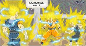 DBM- Vegetto VS Goku + Vegeta by DBZwarrior