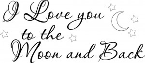Love-you-to-the-Moon-Cursive-vinyl-wall-decal-quote-sticker ...