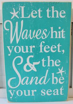 ... Wood Sign - Popular Beach Quotes Sayings - California Seashell Company