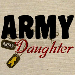 Army Daughter Dog Tags Tote Bag