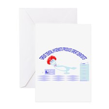 Cute Flossing Greeting Cards (Pk of 10)