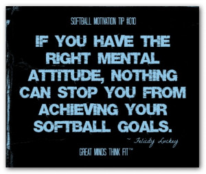 Attitude Quote For Softball
