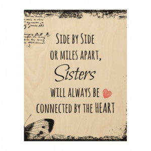 Sisters Quote Wood Canvases