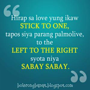 Hirap sa love yung ikaw stick to one tapos siya parang palmolive