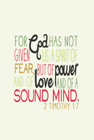 bible quotes about love and fear