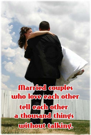 Love Sayings:Married Couple Who Love Each Other…