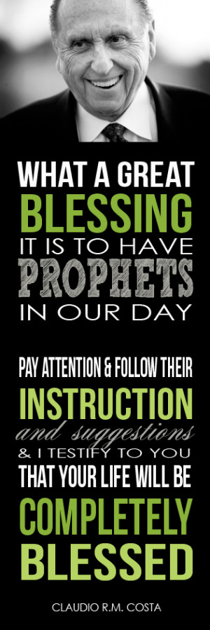 Come Follow Me: The Importance of Following Prophets
