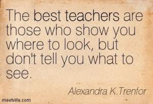 The Best Teachers.....