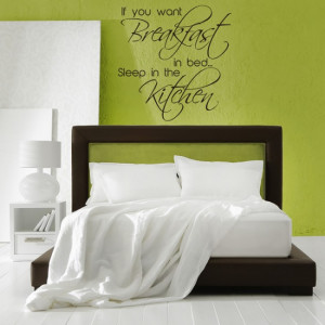 Home / Breakfast In Bed Wall Sticker Quote Wall Art