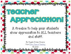 Goodbye Quotes For Teachers Teacher appreciation freebie!