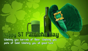 Wish You good Luck Picture messages with Green Hat and Irish Beer Pics ...