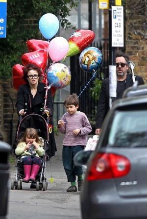 Helena Bonham Carter and Tim Burton with Their Children Shopping ...