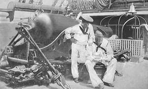 The men behind the guns - U.S.S. Mohican, 1888 Gilbert H. Purdy ...