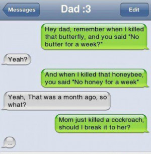Funny Dad Messages - Funny Father Quotes