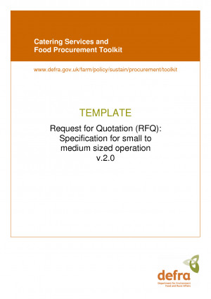 Catering Quotation Template by rgh15271