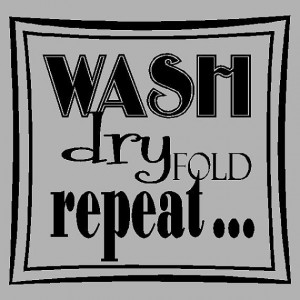 ... Fold Repeat.... Laundry Room Wall Quotes Words Sayings Removable