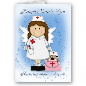Happy Nurses Day Nurses Are Angels In Disguise Greeting Card