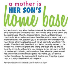 mother is her son's home base! Aww Garrett I can only hope this is ...