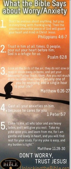 Worry/Anxiety bible Verses