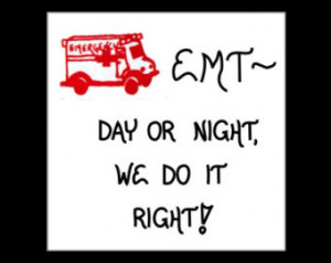 EMT Magnet Quote, Emergency Medical Technician, red ambulance design