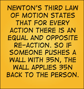 Newton's Third Law of Motion states that For every action there is an ...