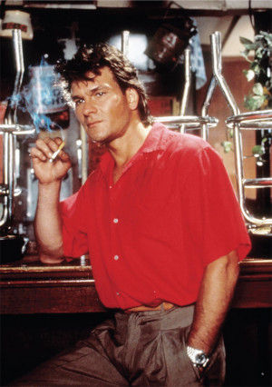 ... Patrick Swayze in the film Road House . Photo by United Artists