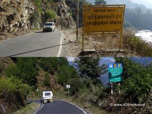 ... near Rudraprayag town (Hindi quote) and Guptkashi in Uttarakhand